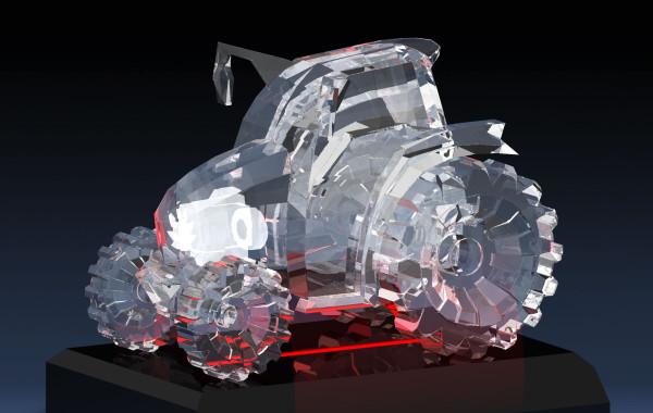 クリスタルガラス制作